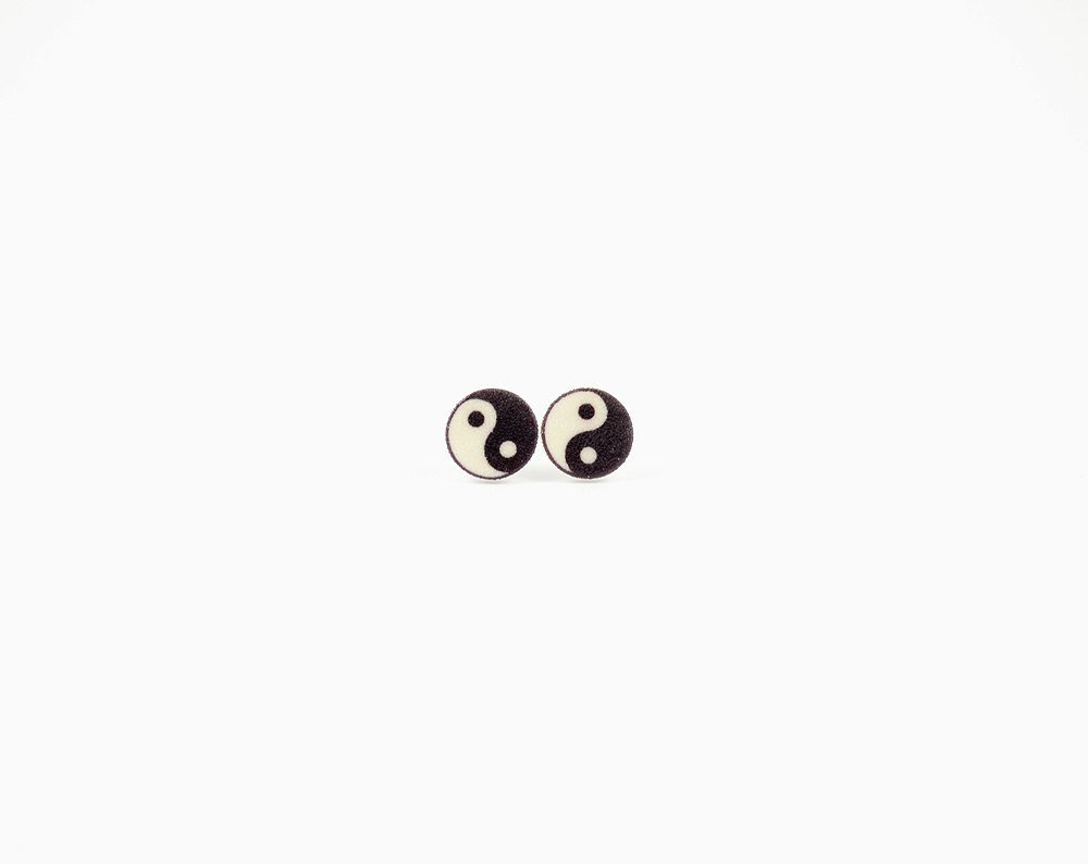 Yin Yang Earrings Stud Earring Post Earring Yin Yang Jewelry