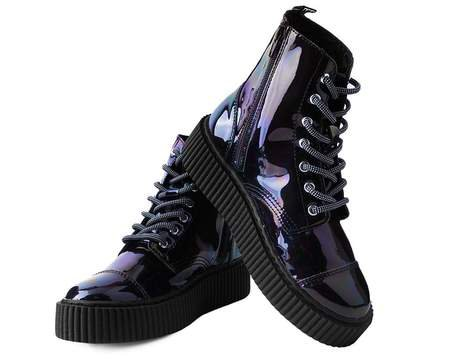 Black Hologram Vegan Casbah Creeper Boots