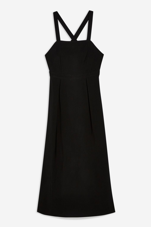 Midi Pinafore Slip Dress - Topshop