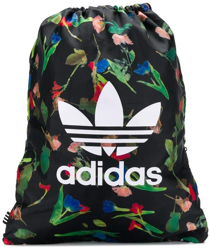 Floral Print Drawstring Backpack