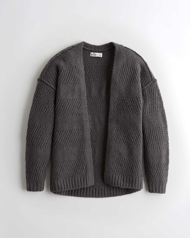 Oversized Open-Stitch Cardigan