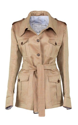 Sahariana Belted Cotton-Twill Jacket by Giuliva Heritage Collection | Moda Operandi