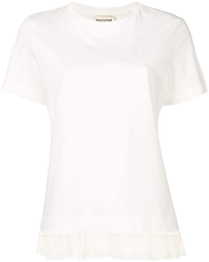 Semicouture frill hem T-shirt