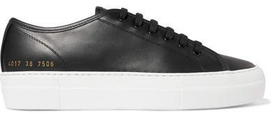 Tournament Leather Sneakers - Black