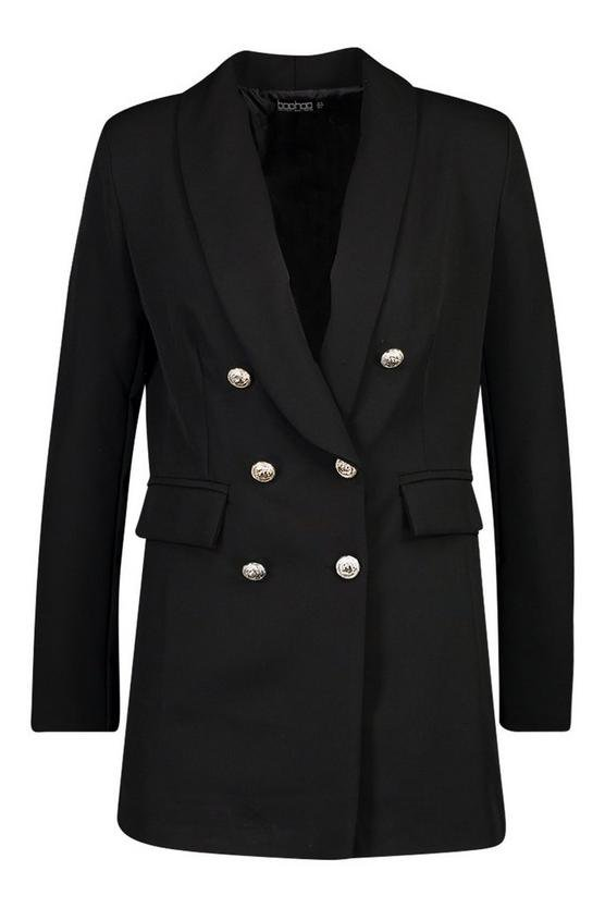 Structured Blazer | Boohoo black