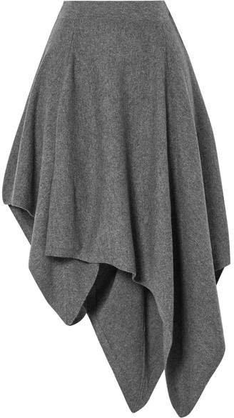 Asymmetric Cashmere Skirt - Gray