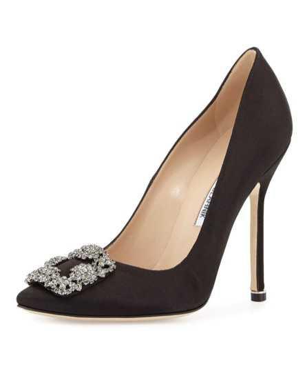 manolo black heels
