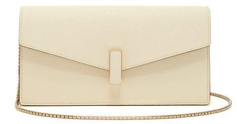 Iside Grained Leather Clutch - Womens - White