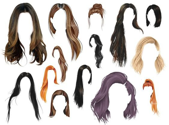 Hair png set - wigs, hairstyles