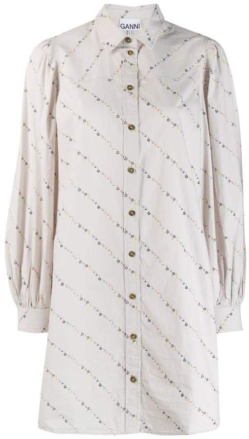 oversized floral print shirt