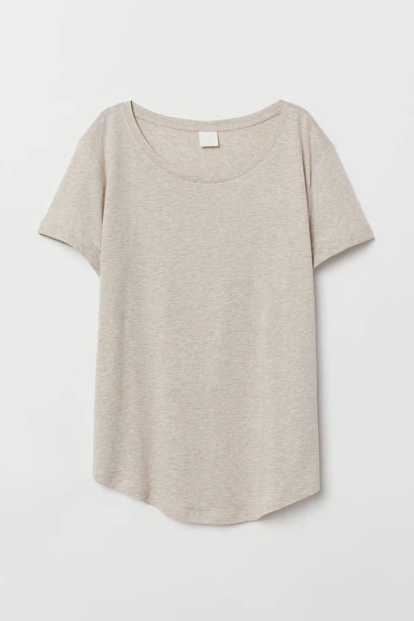 Slub Jersey T-shirt - Beige