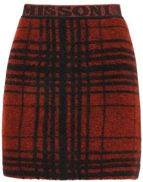 Checked Knitted Mini Skirt