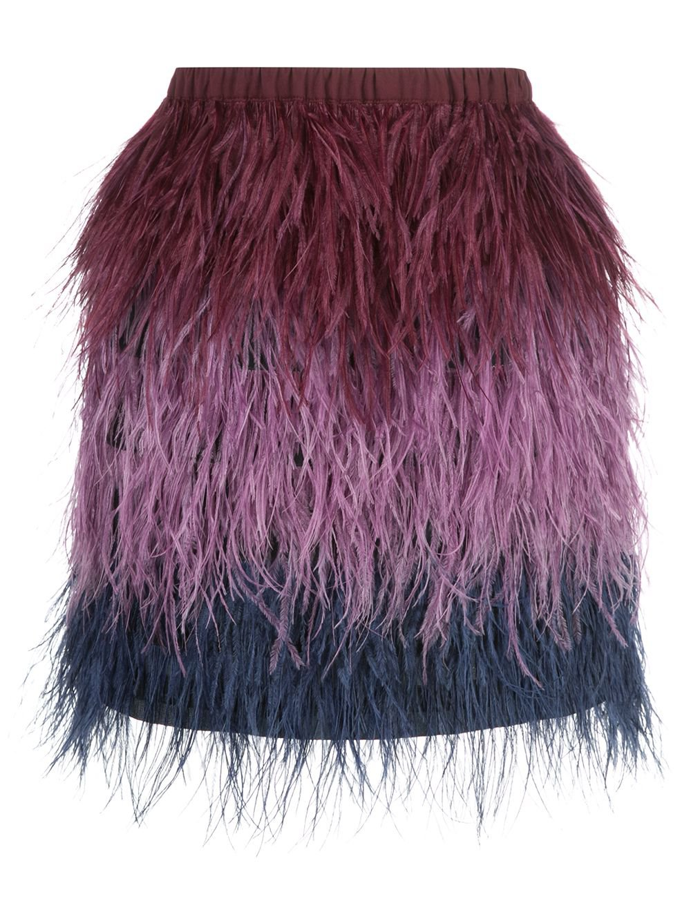 Cynthia Rowley Ostrich Feather Mini Skirt | Farfetch.com