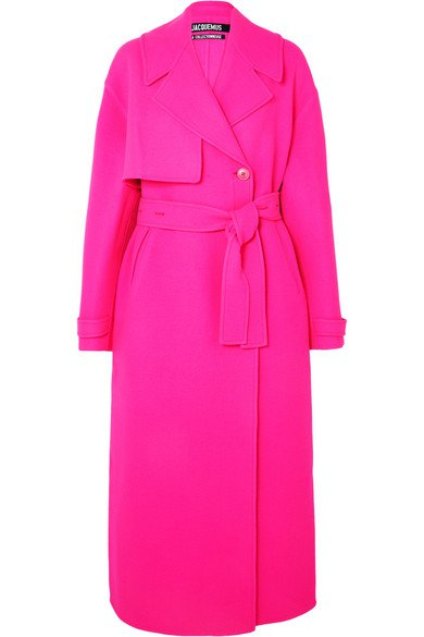 Jacquemus | Sabe oversized neon wool trench coat | NET-A-PORTER.COM