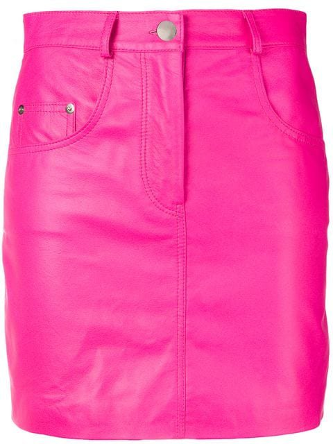 Manokhi High-Waisted Leather Mini Skirt
