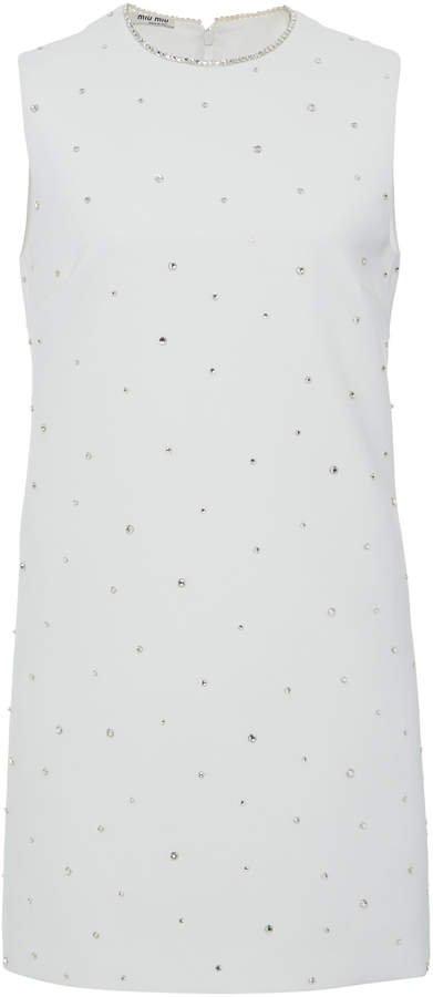 Crystal Embellished Mini Shift Dress