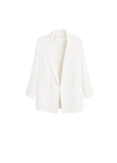 MANGO Textured unstructured blazer