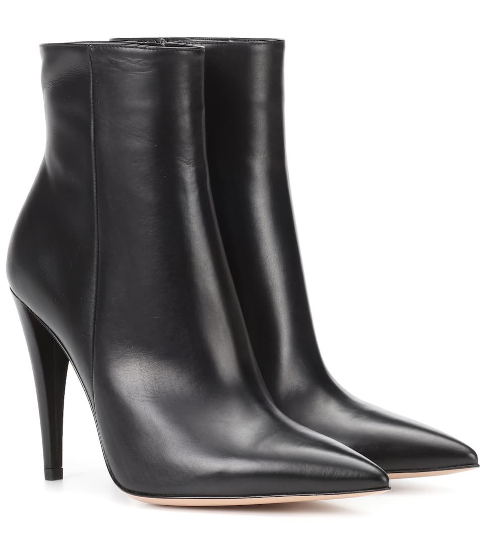 Leather Ankle Boots - Gianvito Rossi | mytheresa.com