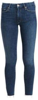 Women's Looker Ankle-Fray Skinny Jeans - Blue - Size 24 (0)