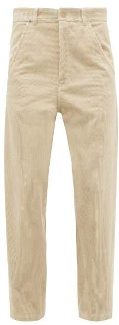 Docker Straight Leg Corduroy Trousers - Womens - Beige
