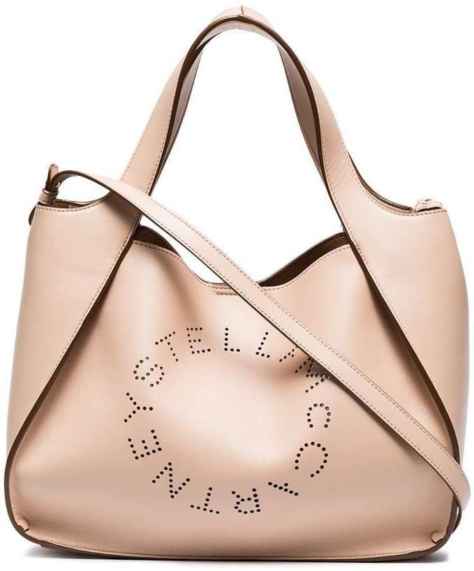 Beige Logo Tote Bag