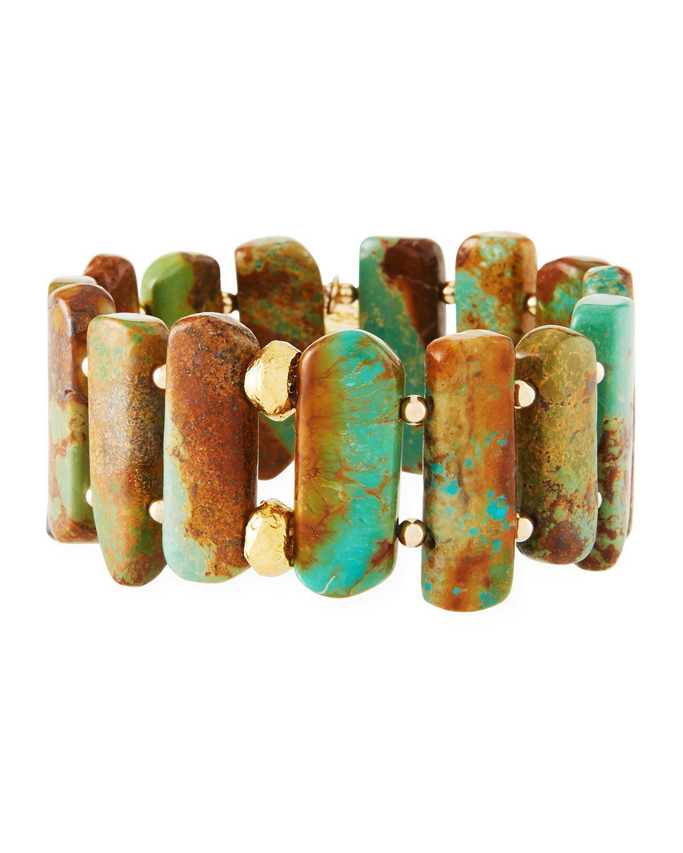 Devon Leigh Turquoise Stretch Bracelet
