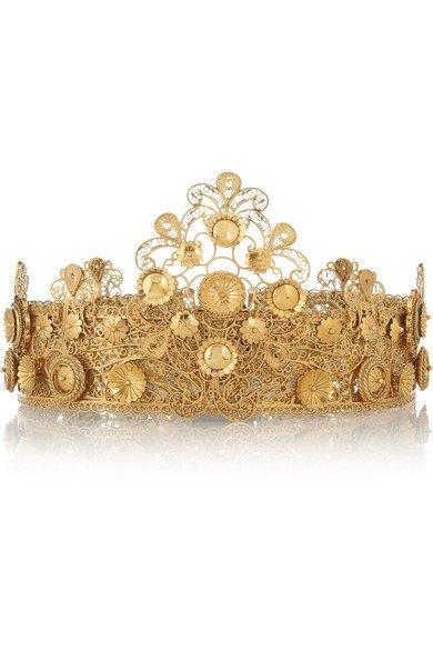 dolce & gabbana gold crown
