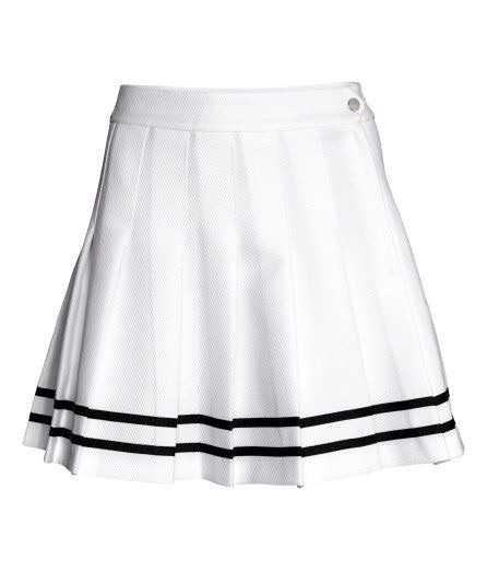 H&M White Pleated Skirt
