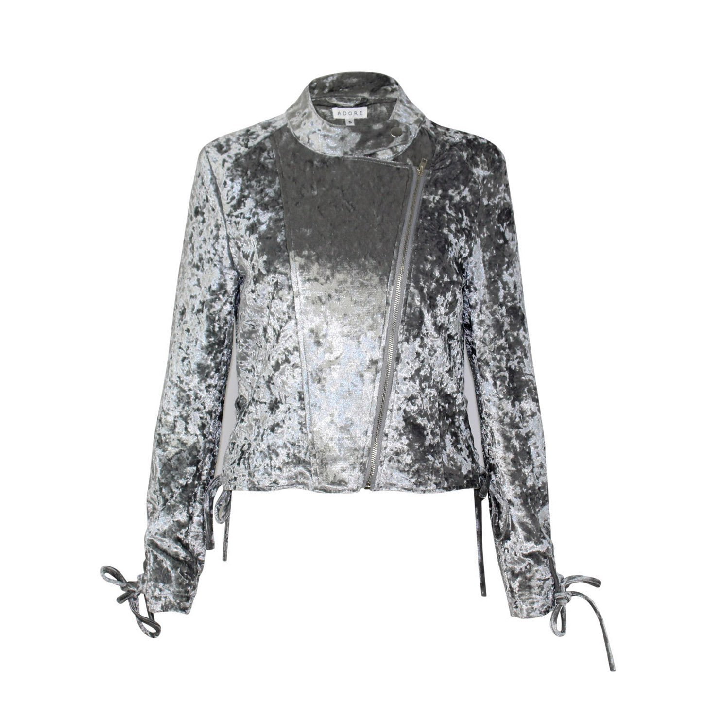 Adore Crushed Velvet Moto Jacket | Muse Boutique Outlet – Muse Outlet