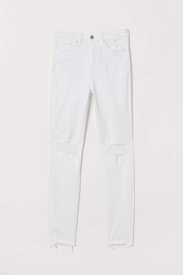 Embrace High Ankle Jeans - White