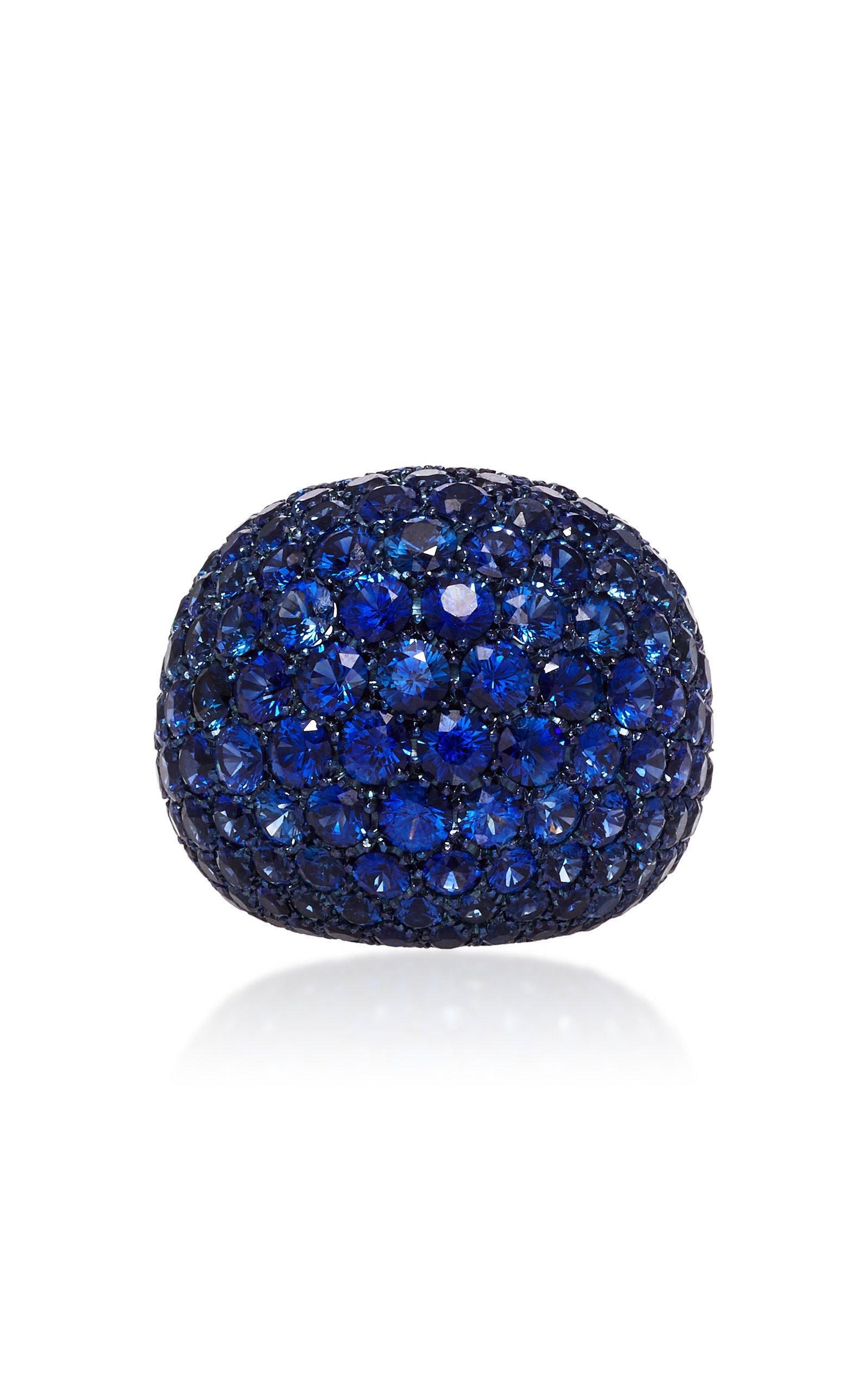Busatti America Titanium And Sapphire Ring