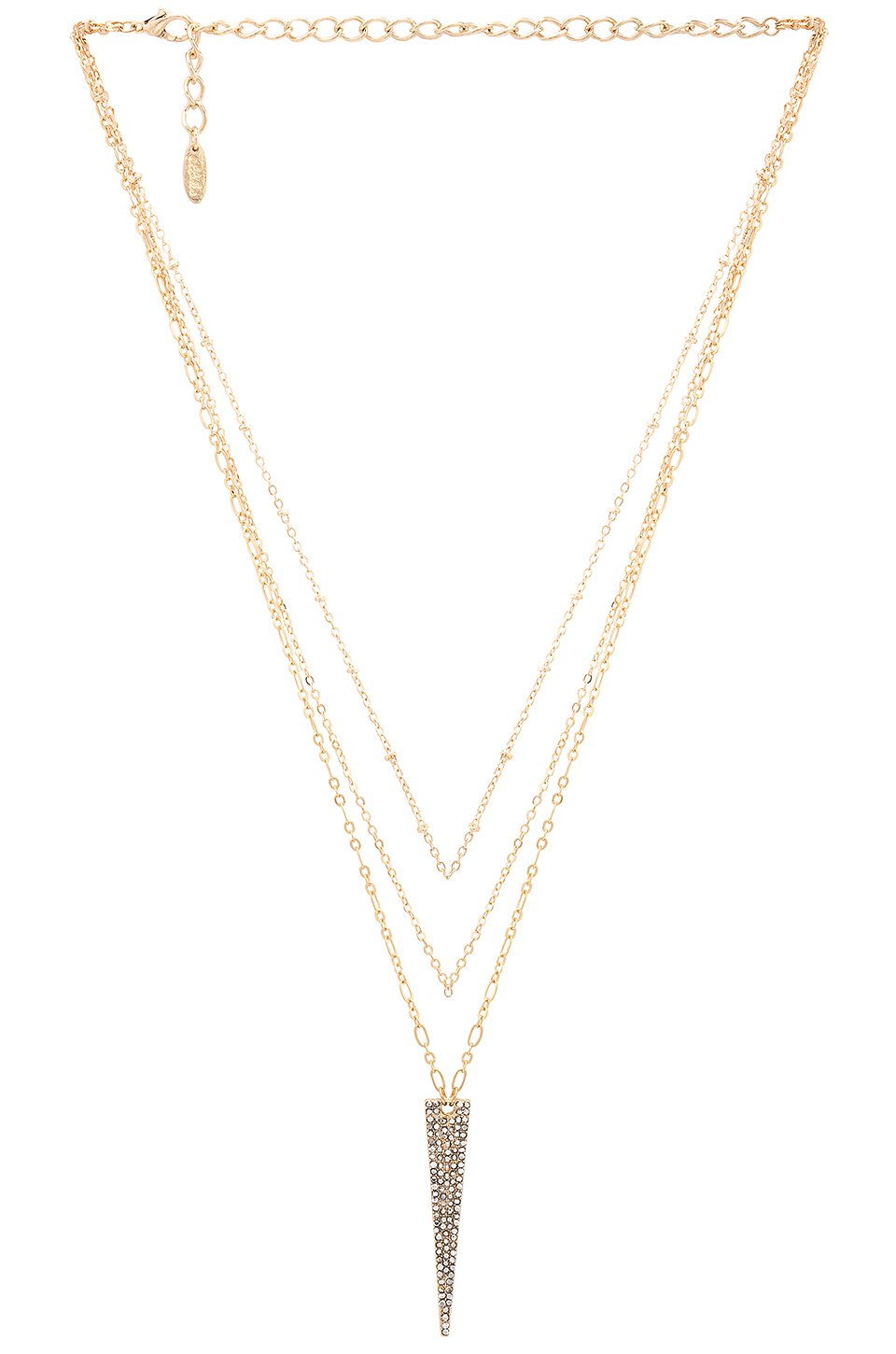 Long Triangle Layered Necklace
