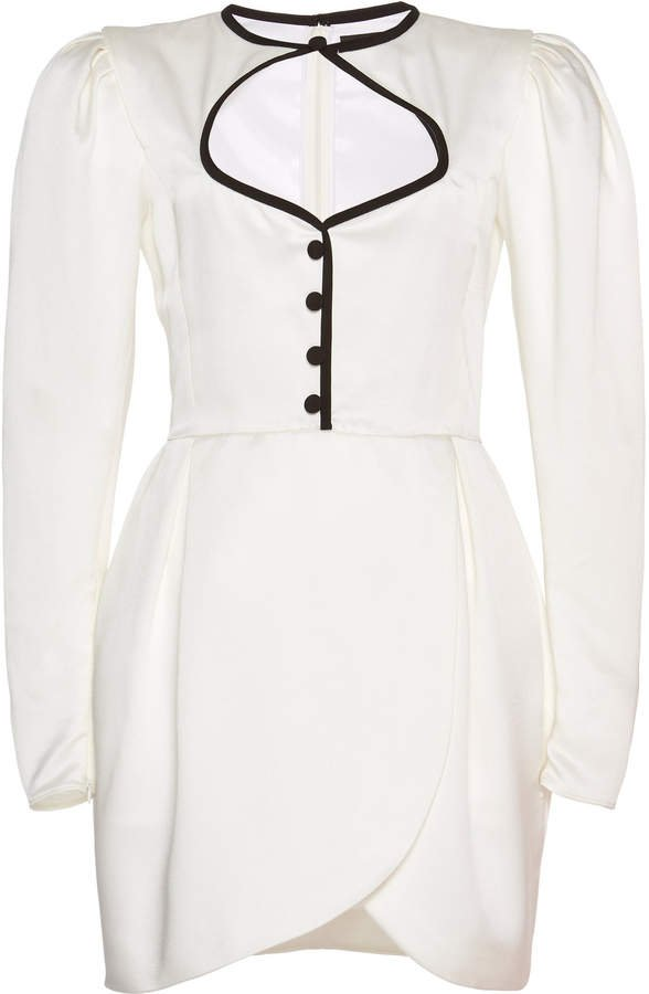 Buttoned Cutout Mini Dress