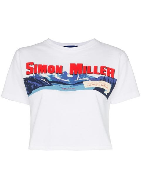 Simon Miller Rando cropped logo T-shirt $102 - Buy Online - Mobile Friendly, Fast Delivery, Price