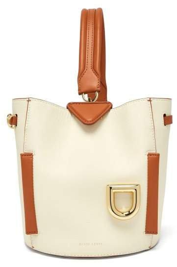 Josh Leather Shoulder Bag - Womens - Tan White