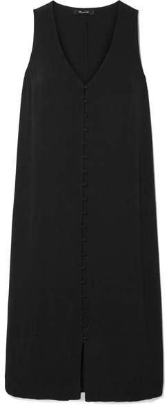 Heather Crepe De Chine Midi Dress - Black