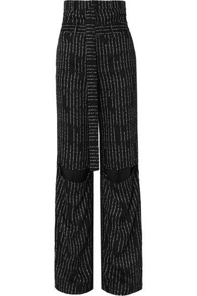 Unravel Project | Cutout jacquard straight-leg pants | NET-A-PORTER.COM