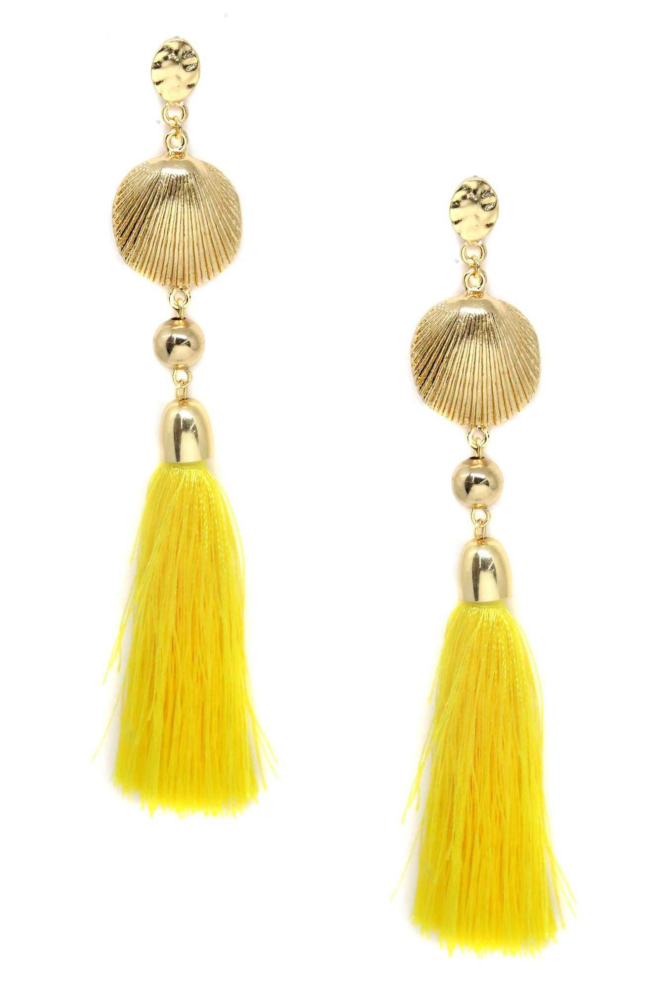 earning with yellow tassels