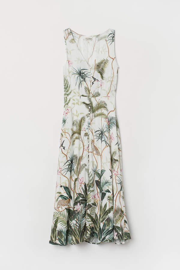 Creped Dress - White