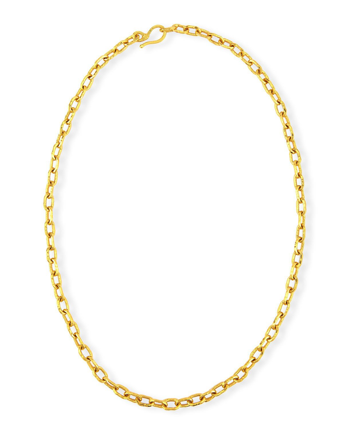 "Jean Mahie 26"" Cadene 22K Yellow Gold Link Necklace"