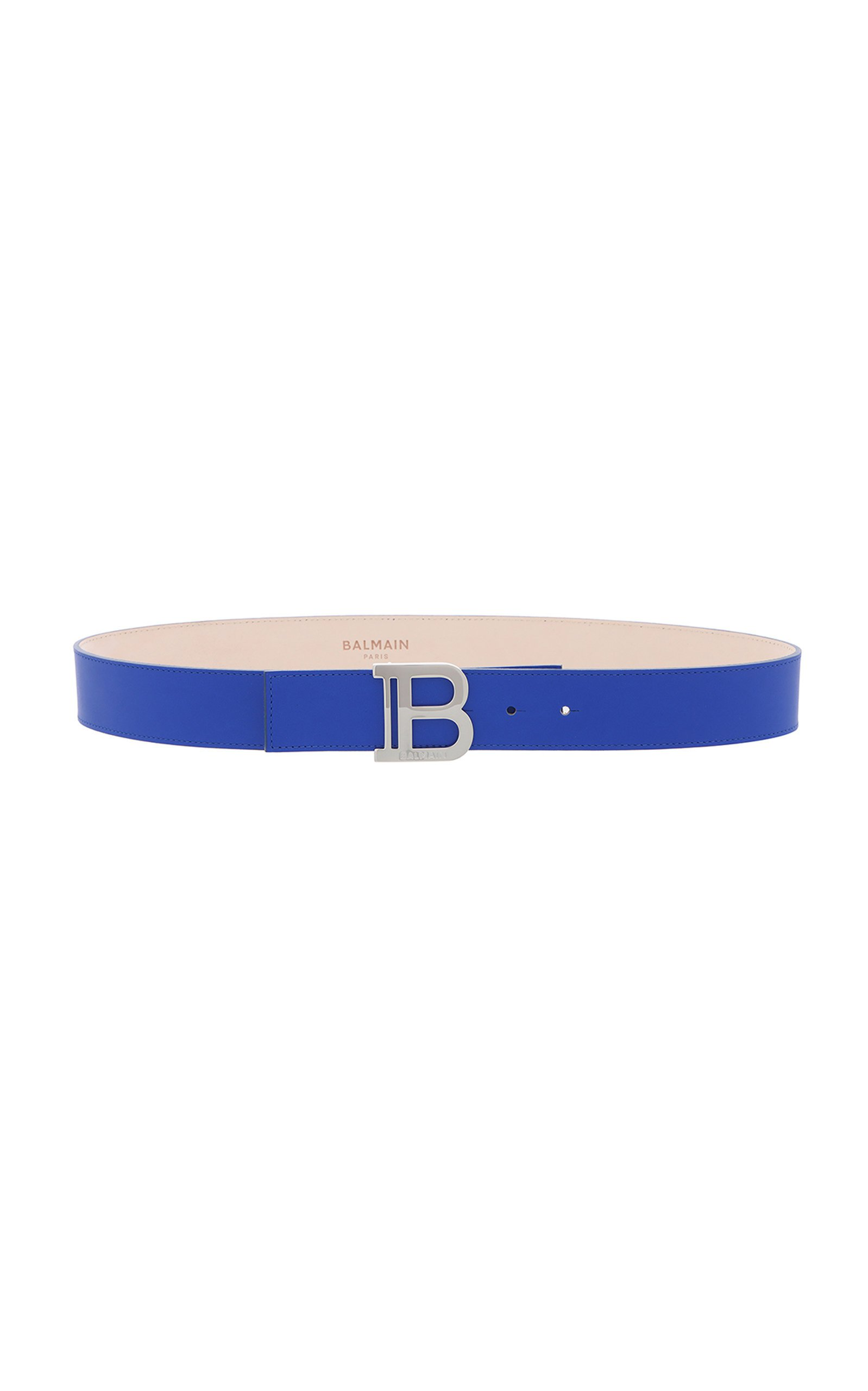Balmain Signature Leather B-Belt Size: 95 cm