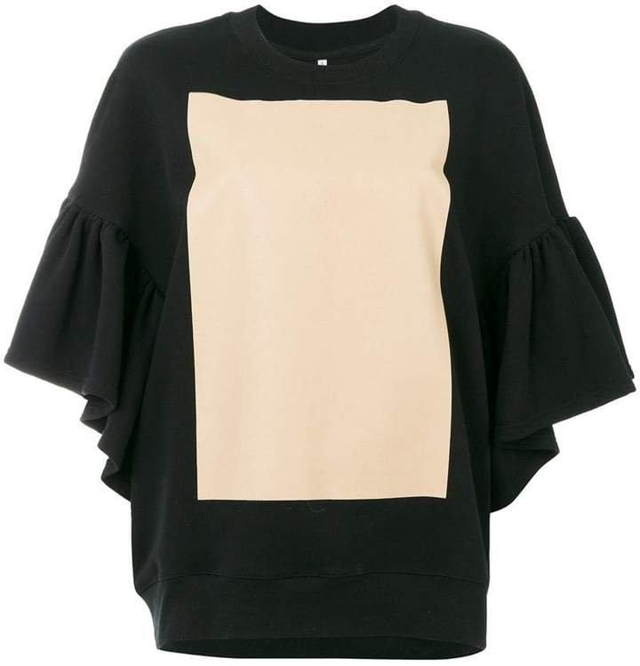 Ioana Ciolacu sweatshirt with ruffled sleeves