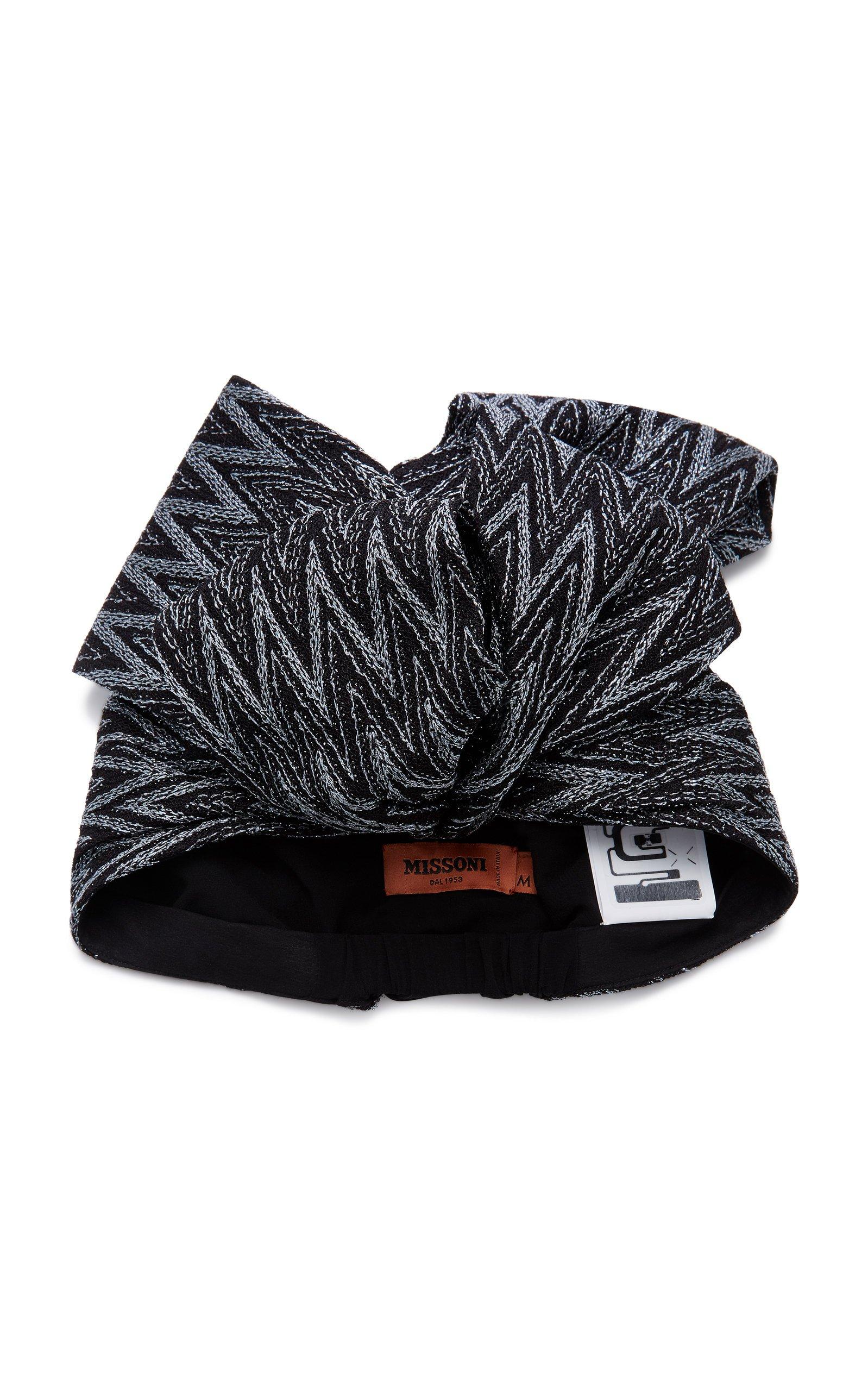 Missoni Metallic Crochet-Knit Headwrap