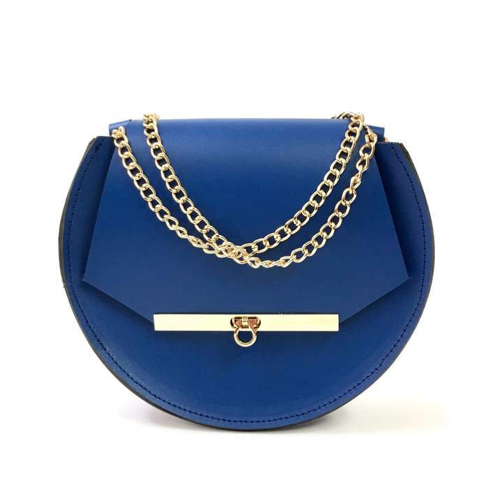 Angela Valentine Handbags - Loel Mini Military Bee Chain Bag Clutch In Royal Blue