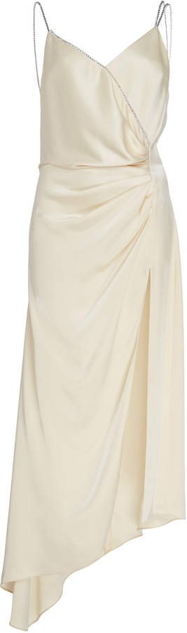 Asymmetrical Ruched Silk Dress
