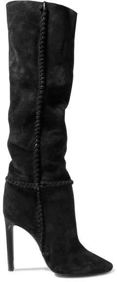 Mica Suede Knee Boots - Black