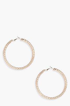 Layered Textured Hoop Earrings