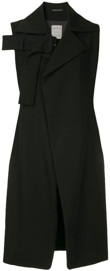 Pre-Owned cut-detail short sleeve coat