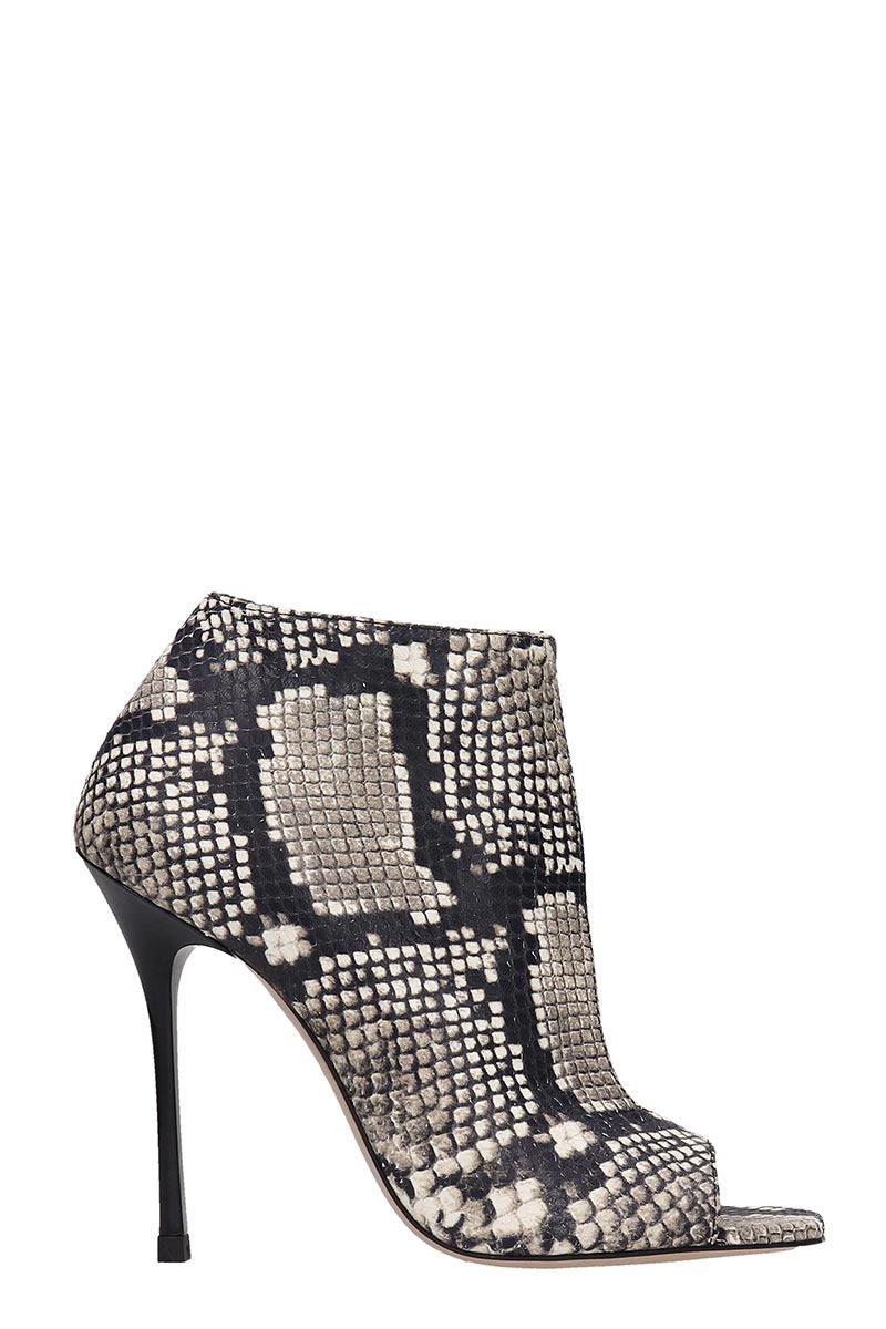 Marc Ellis Snake Print Ankle Boots