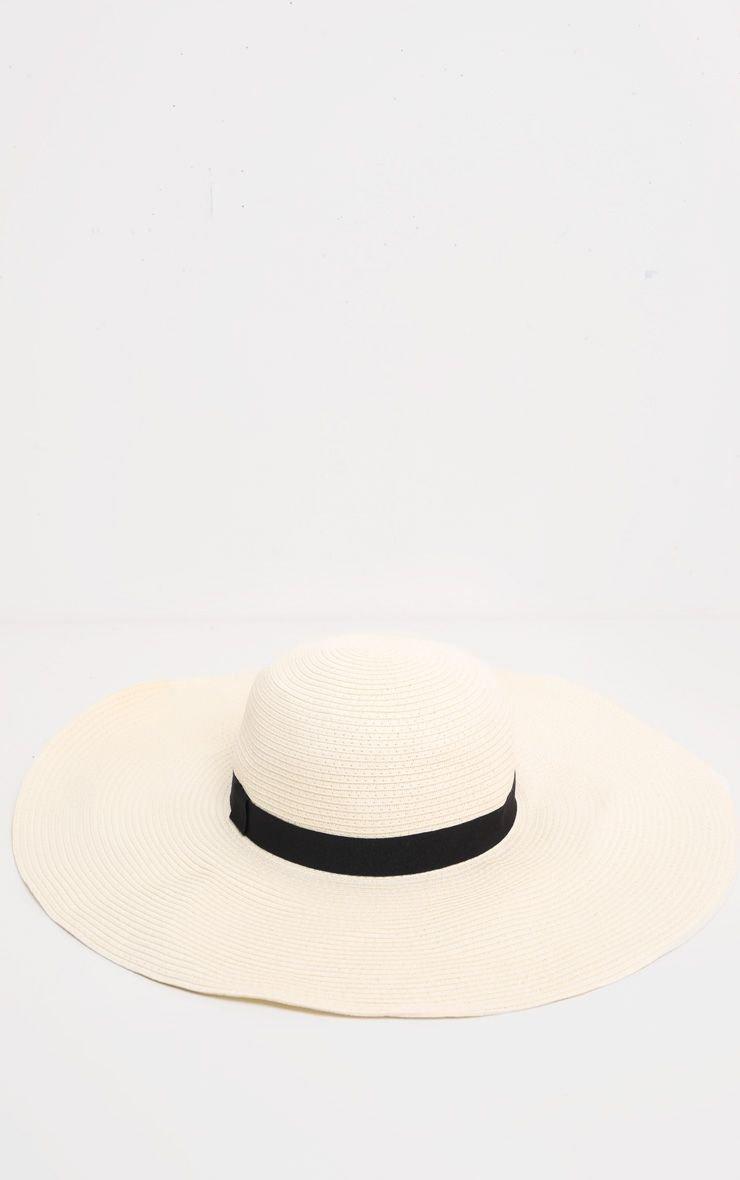 Cream Floppy Sun Hat | Accessories | PrettyLittleThing